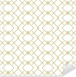 Sticker Pixerstick Modèle élégant linéaire géométrique vectorielle continue en or