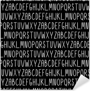 Sticker Pixerstick Modèle sans couture avec l'alphabet. texture transparente vecteur pour fonds d'écran, motifs de remplissage, arrière-plans de page web