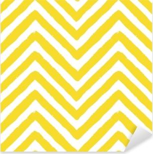 Sticker Pixerstick Modèle sans couture de vecteur chevron jaune
