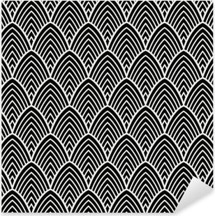 Sticker Pixerstick Modèle sans couture vintage art déco. texture décorative géométrique.