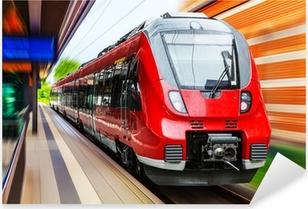 Modern high speed train Pixerstick Sticker