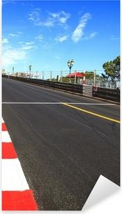 Monaco, Monte Carlo. Race asphalt, Grand Prix circuit Pixerstick Sticker