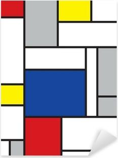 mondrian inspired art Pixerstick Sticker
