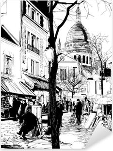 Sticker Pixerstick Montmartre en hiver