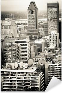 Montreal city Pixerstick Sticker