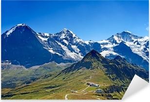 Sticker Pixerstick Monts Eiger, Moench et Jungfrau