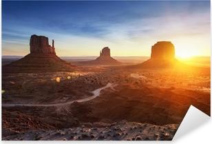 Pixerstick Sticker Monument Valley bij zonsopgang