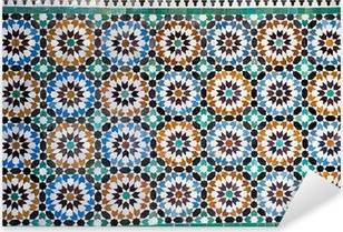 moroccan vintage tile background Pixerstick Sticker