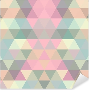 Pixerstick Sticker Mosaic driehoek achtergrond. geometrische achtergrond