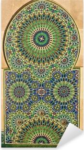 Sticker Pixerstick Mosaïque fleurie sur une mosquée marocaine