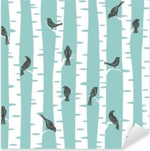 Sticker Pixerstick Motif arbres