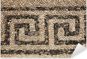 Sticker Pixerstick Motif de frise grecque avec des pierres