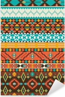 Sticker Pixerstick Motif géométrique navajo transparente