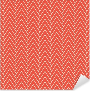 Sticker Pixerstick Motif rouge chevron