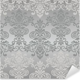 Sticker Pixerstick Motif vintage transparente en gris