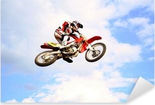 Sticker Pixerstick Motocross dans le ciel