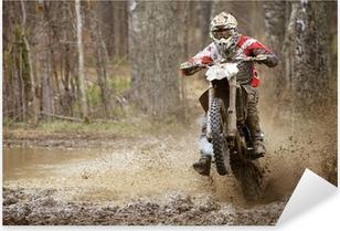 Sticker Pixerstick Motocross Madness