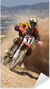 Sticker Pixerstick Motocross poussière