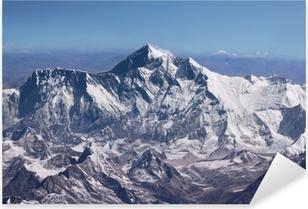 Pixerstick Sticker Mount Everest - Top of the World (van vliegtuigen)