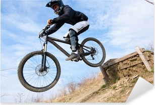 Mountainbike Sprung Pixerstick Sticker