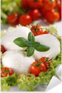 mozzarella di bufala italiana con pomodorini di pachino Pixerstick Sticker