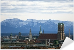 Sticker Pixerstick Munich Panorama