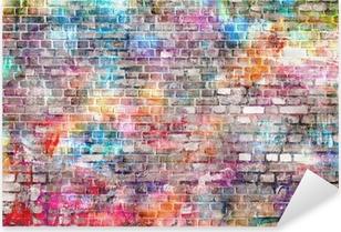 Sticker Pixerstick Mur d'art coloré de grunge, fond