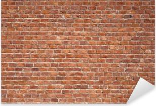 Sticker Pixerstick Mur de briques. Fond