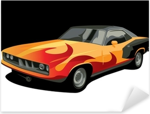 Sticker Pixerstick Muscle car