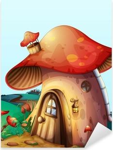 Sticker Pixerstick Mushroom house