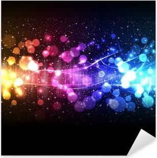 music equalizer wave Pixerstick Sticker