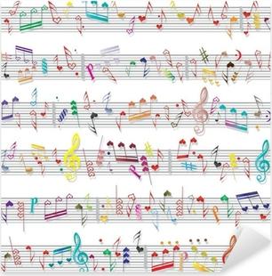 Music note sound texture Pixerstick Sticker