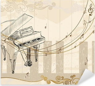 Pixerstick Sticker Muzikale achtergrond