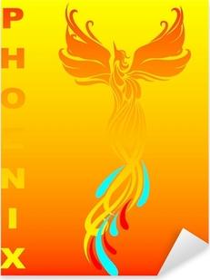 Mythical phoenix bird Pixerstick Sticker