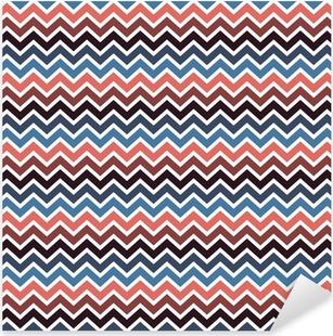 Pixerstick Sticker Naadloos chevron patroon.