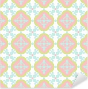 Pixerstick Sticker Naadloos patroon. Portugees, Marokkaans, Spaans tegel.