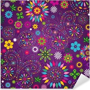 Pixerstick Sticker Naadloze bonte violet patroon