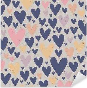 Pixerstick Sticker Naadloze hart patroon