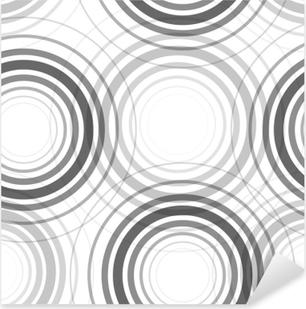 Pixerstick Sticker Naadloze monochroom cirkels patroon