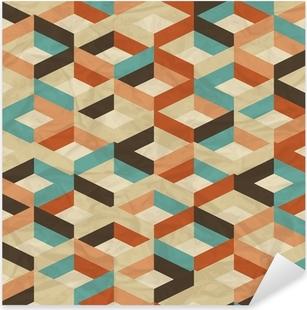 Pixerstick Sticker Naadloze retro geometrisch patroon.