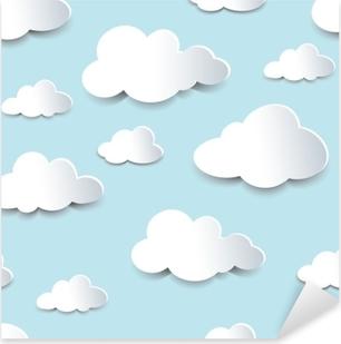 Pixerstick Sticker Naadloze uitsparingen wolken