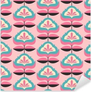 Pixerstick Sticker Naadloze vintage bloempatroon
