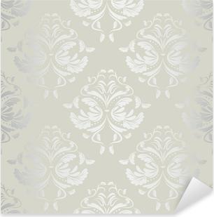 Pixerstick Sticker Naadloze wallpaper.damask pattern.floral achtergrond
