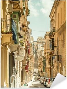 Narrow street in Malta Pixerstick Sticker
