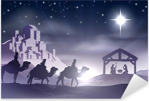 Nativity Christmas Scene Pixerstick Sticker