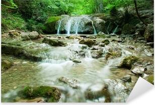 Natural Spring Waterfall Pixerstick Sticker