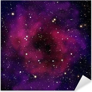 Sticker Pixerstick Nébuleuse et la star dans le domaine spatial