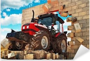 Sticker Pixerstick Neuf Tracteur briser le mur