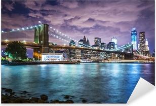 New York City lights Pixerstick Sticker