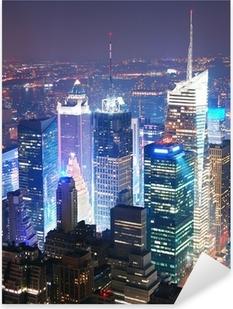 Pixerstick Sticker New York City Manhattan Times Square skyline luchtfoto